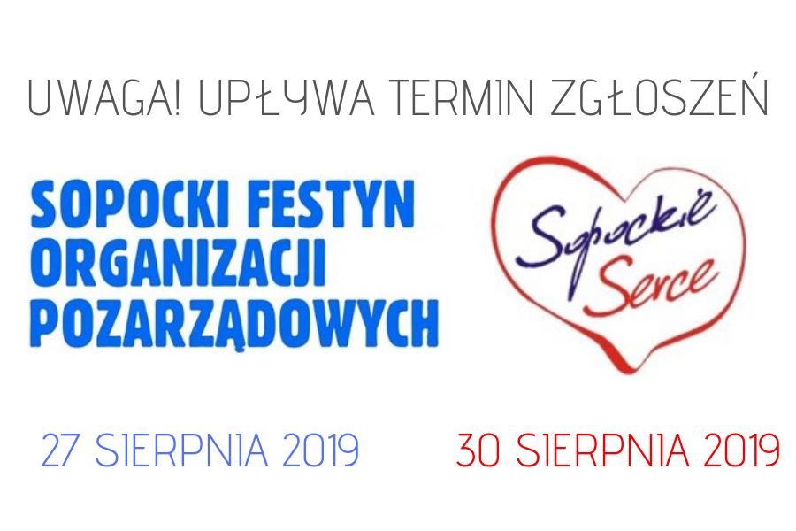 Ostatnie dni rekrutacji wystawców Sopockiego Festynu NGO's oraz składania nominacji  do nagrody Sopockie Serce