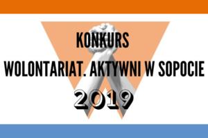 """Konkurs """"Wolontariat. Aktywni w Sopocie"""" 2019. Nominuj swojego kandydata   2 grudnia 2019"""