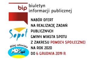 II OTWARTY KONKURS OFERT W SOPOCIE   POMOC SPOŁECZNA   NABÓR DO 6 GRUDNIA 2019 R.