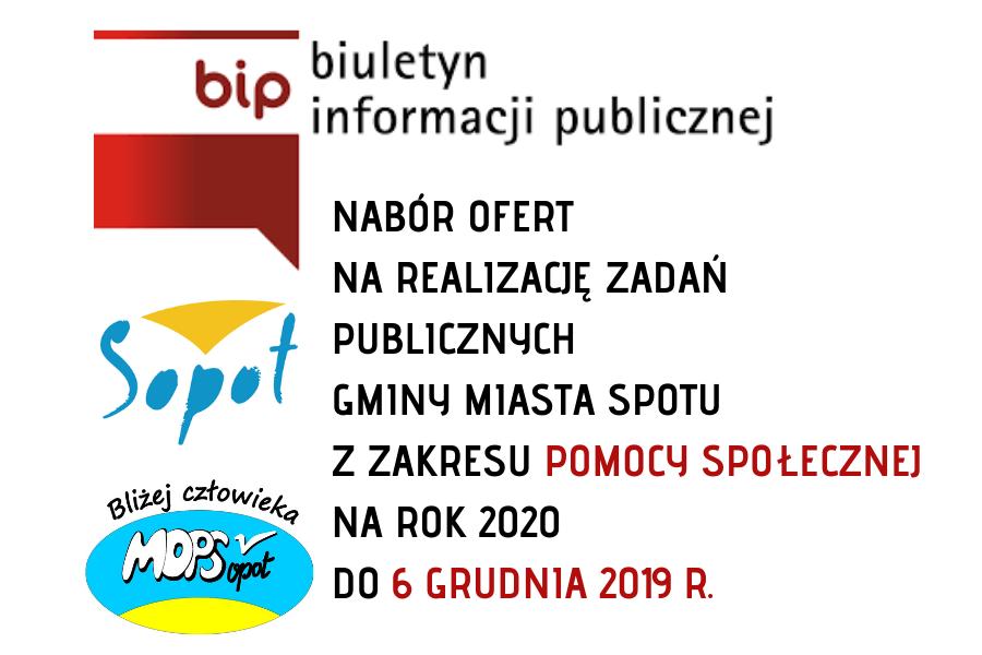 II OTWARTY KONKURS OFERT W SOPOCIE | POMOC SPOŁECZNA | NABÓR DO 6 GRUDNIA 2019 R.
