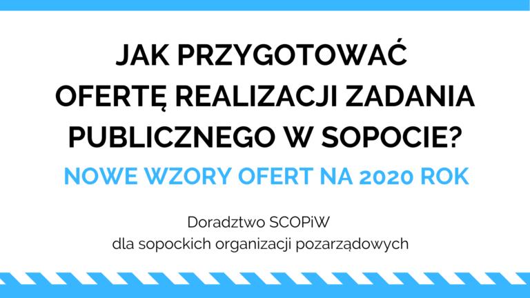 Jak przygotować ofertę realizacji zadania publicznego w Sopocie?