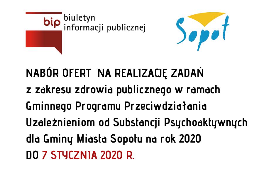 Konkurs ofert na realizację zadań z zakresu zdrowia publicznego | 7 stycznia 2020