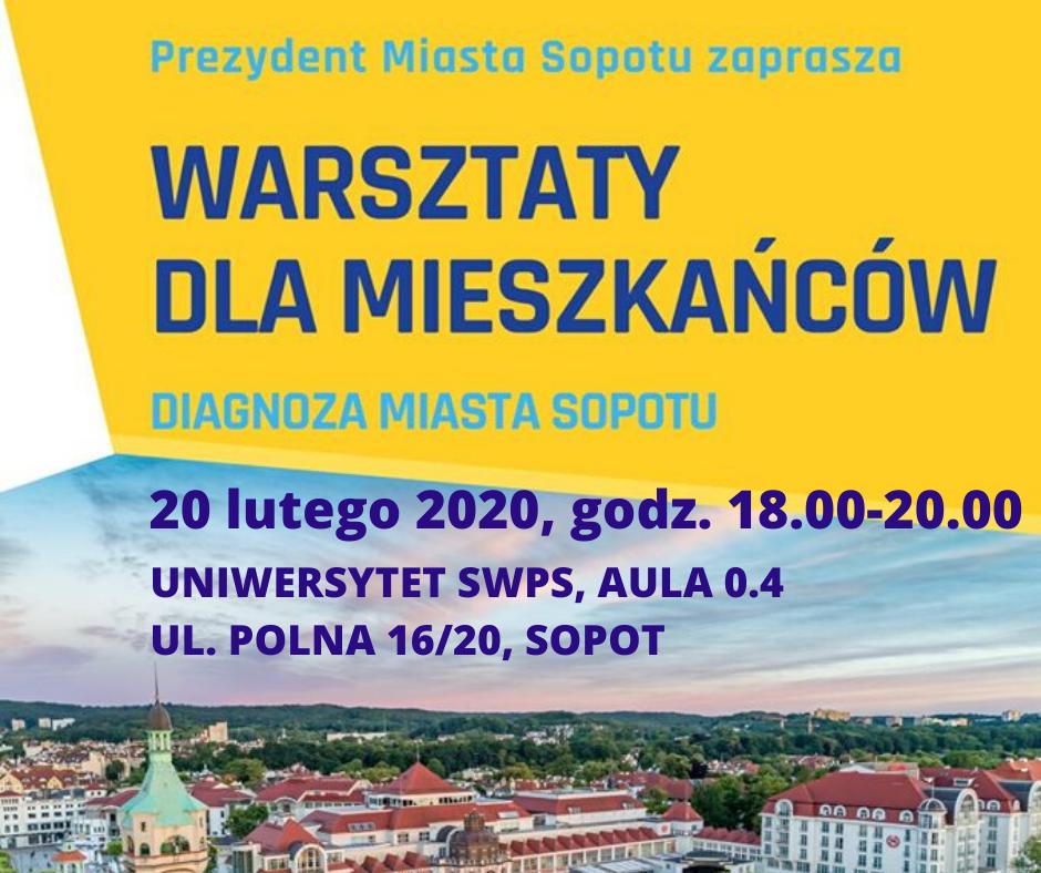 Plan strategiczny 2014-2020 dla Sopotu – spotkanie | 20.02.2020