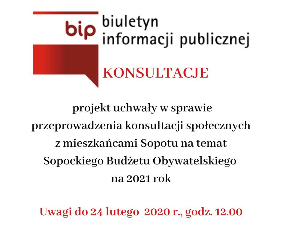 Konsultuj projekt uchwały dot. Sopockiego Budżetu Obywatelskiego na 2021 rok | 24 luty 2020