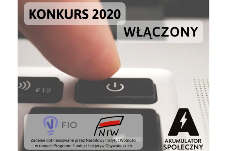 KONKURS AKUMULATOR SPOŁECZNY 2020   NABÓR WNIOSKÓW DO 5 LIPCA BR.