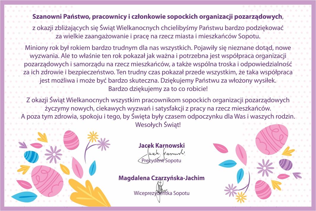Życzenia dla sopockich ngo'sów od Prezydentów