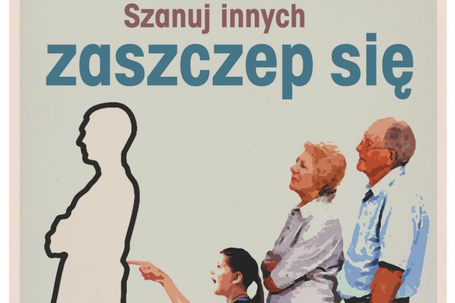 """""""Szanuj innych, zaszczep się"""". Nowe plakaty pojawiły się w Sopocie."""